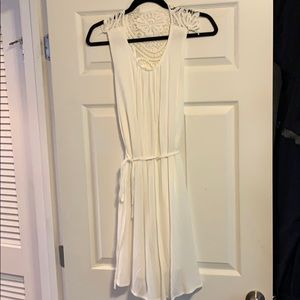 South moon under white summer dress; NWT